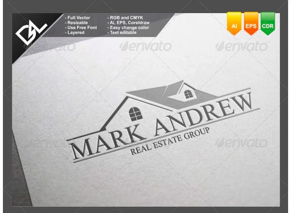 professional logo for real estate template1