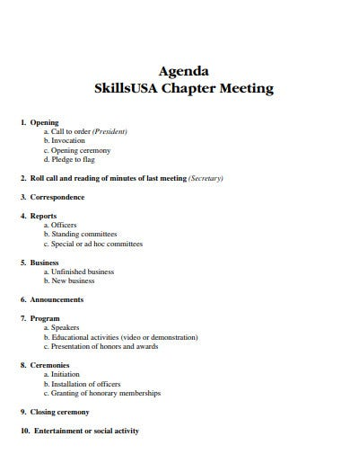 professional meeting agenda in pdf