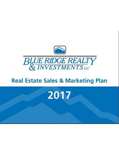 professional real estate sales and marketing plan