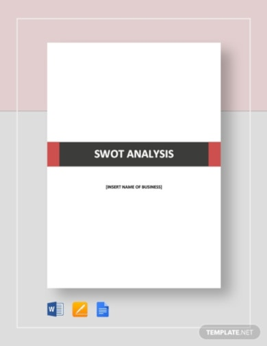 professional swot analysis template