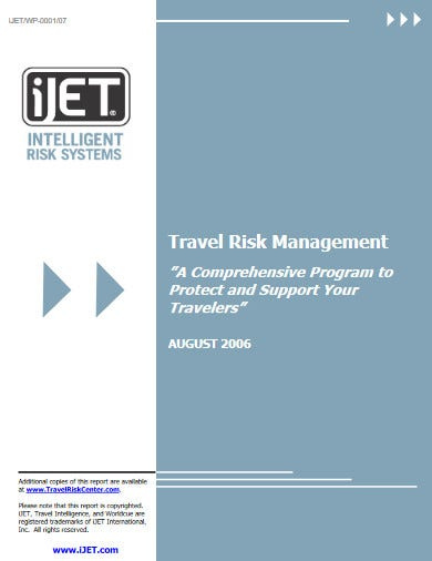 professional travel emergency plan template