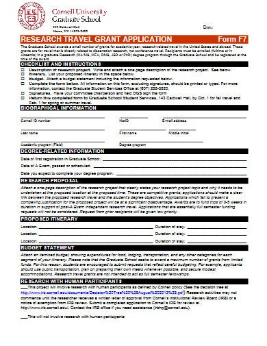 professional travel grant proposal template