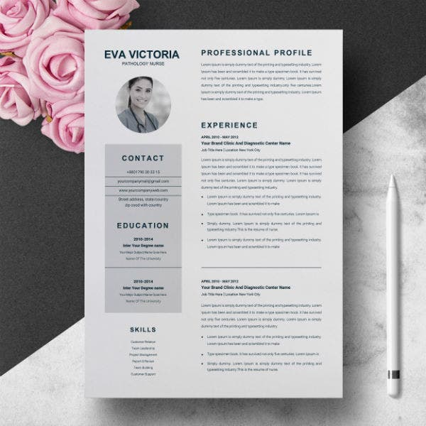 professional travel nurse resume template