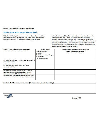 13+ Project Action Plan Templates - Google Docs, Word ...