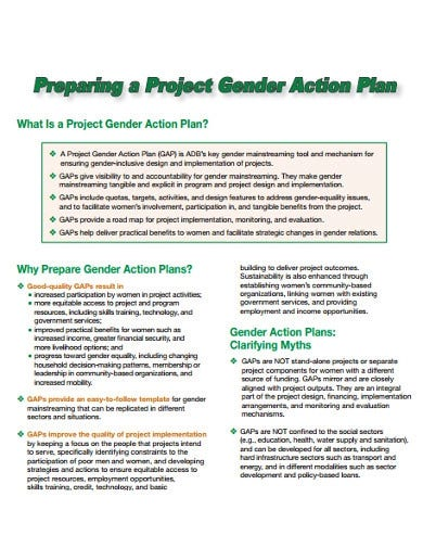 project action plan preparations