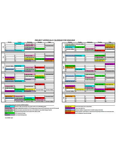 project calendar approval