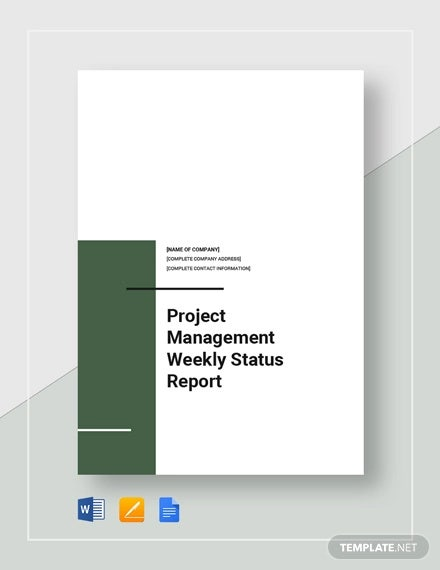 project management weekly status report template