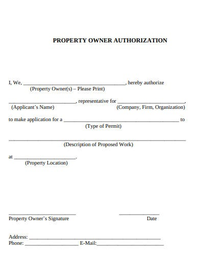 property authorization letter example2