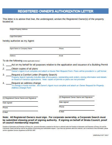 property authorization letter format