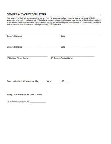 14+ Property Authorization Letter Templates - PDF | Free & Premium