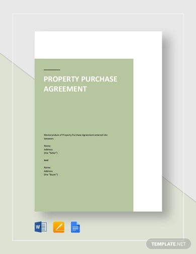 property purchase agreement sample template1