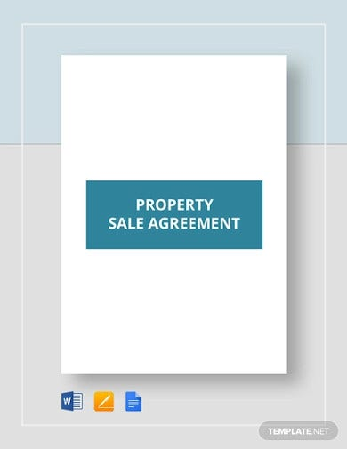 property sale agreement template