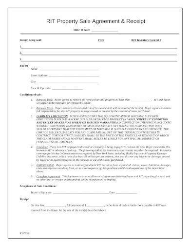 property sale agreement in pdf
