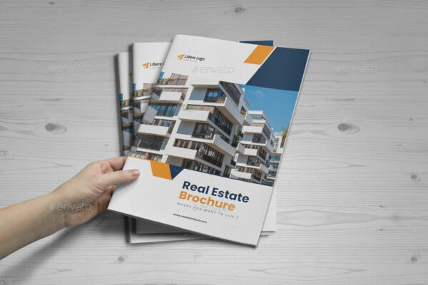 real estate brochure design v6 template