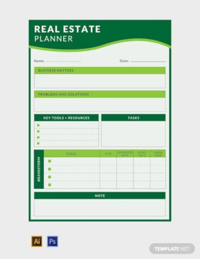 real estate business planner template1