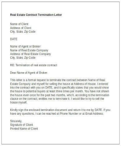 real estate contract termination letter in word document1