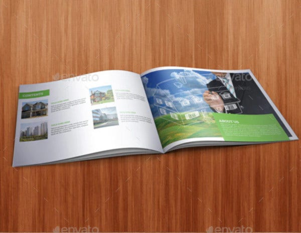 real estate indesign catalog template