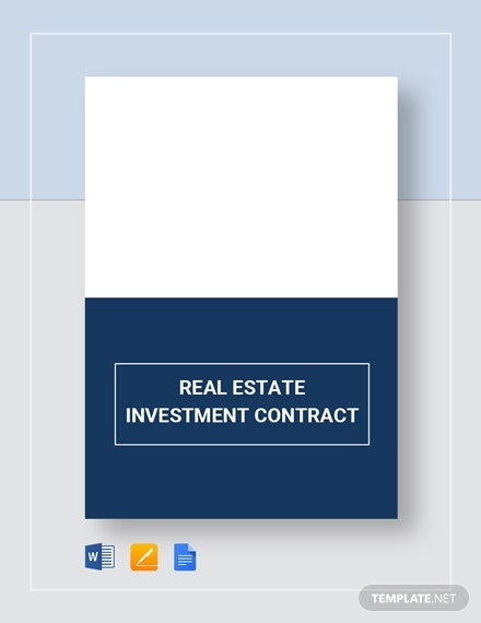 real estate investment contract layout