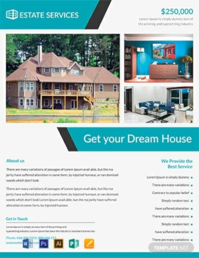 real estate modern flyer template