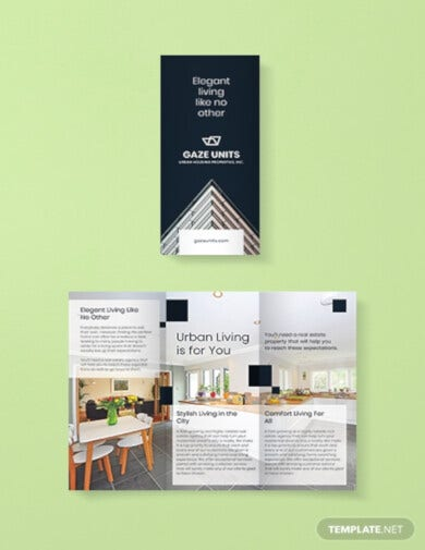 real estate property brochure template