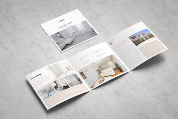 real estate square trifold brochure template