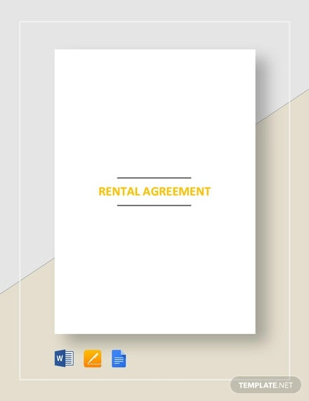 Rental Agreement Format Template