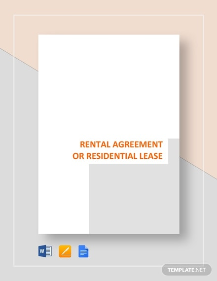 rental agreement or residential agreement template
