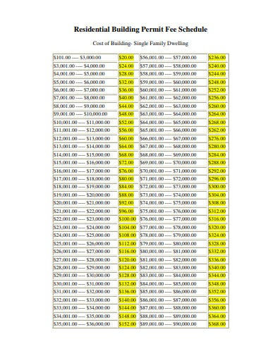 residential building schedule in pdf