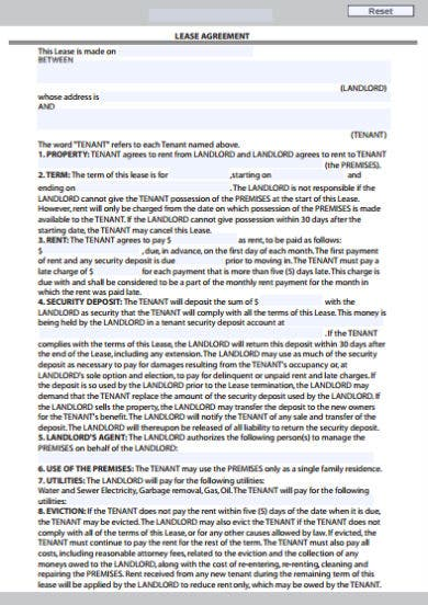 residential lease agreement template1