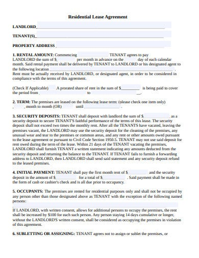 residential lease agreement in pdf