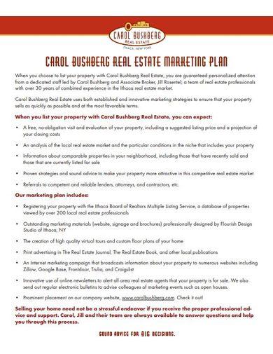residential real estate marketing plan