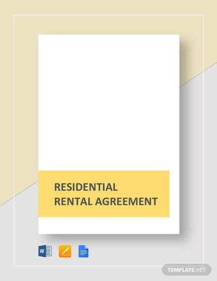 residential rental agreement template1