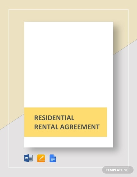 residential rental agreement template2