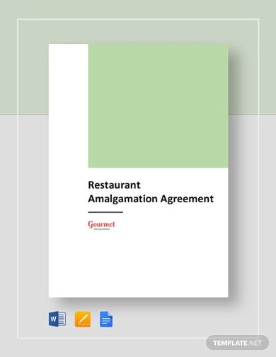 restaurant amalgamation agreement template
