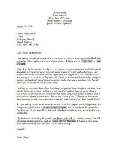 5  Restaurant Complaint Letter Templates In Google Docs