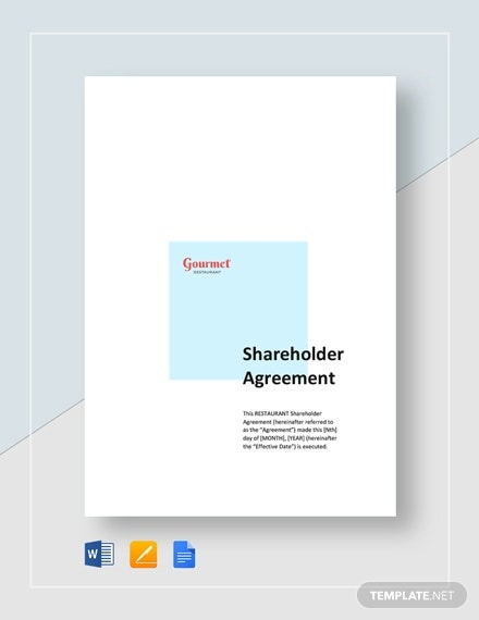 restaurant shareholders agreement template