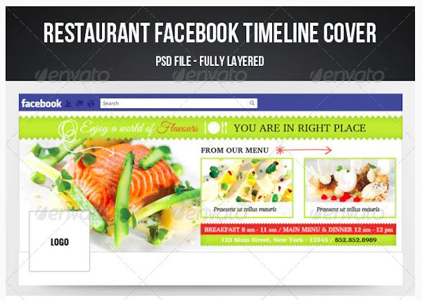 restaurant timeline cover template