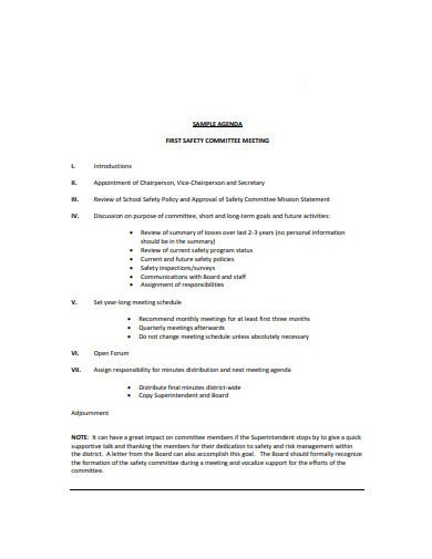 15 Safety Meeting Agenda Templates In Pdf Doc Free Premium Templates
