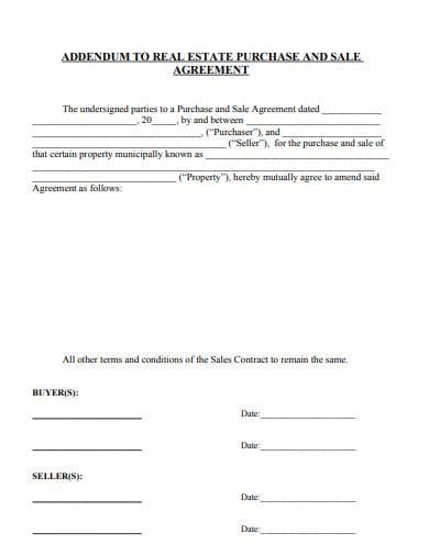 Addendum Sample Letter Agreement.11 Addendum Agreement Templates Pdf Free Premium