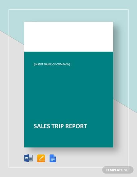 sales trip report template