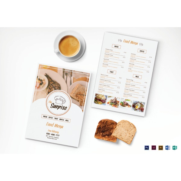 10  breakfast menu templates