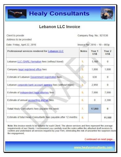 sample consultants llc invoice