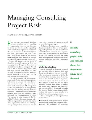 sample consulting project plan template