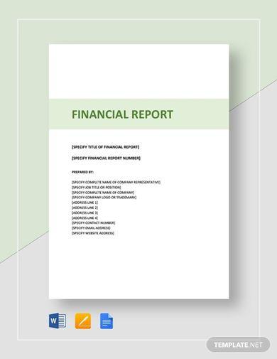 sample financial report template1