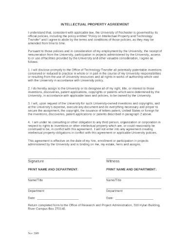 sample intellectual property agreement template
