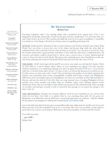 sample non profit letterhead template