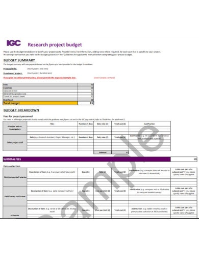 sample project budget template1