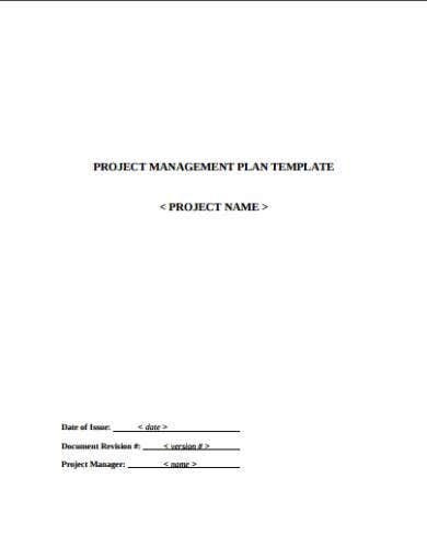 sample project management plan template