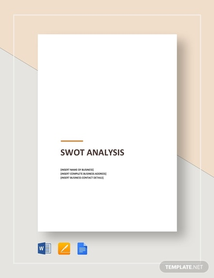 sample swot analysis 1