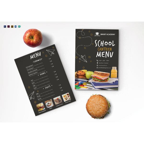 school canteen menu template2